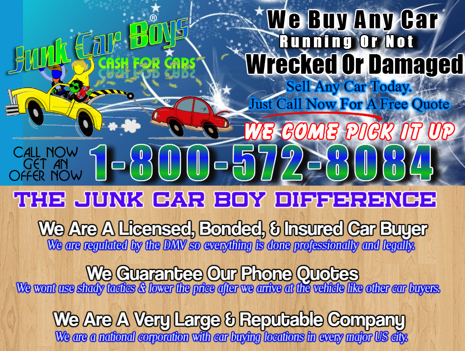 Cash For Cars Long Beach CA - We Buy Junk Vehicles Same Day